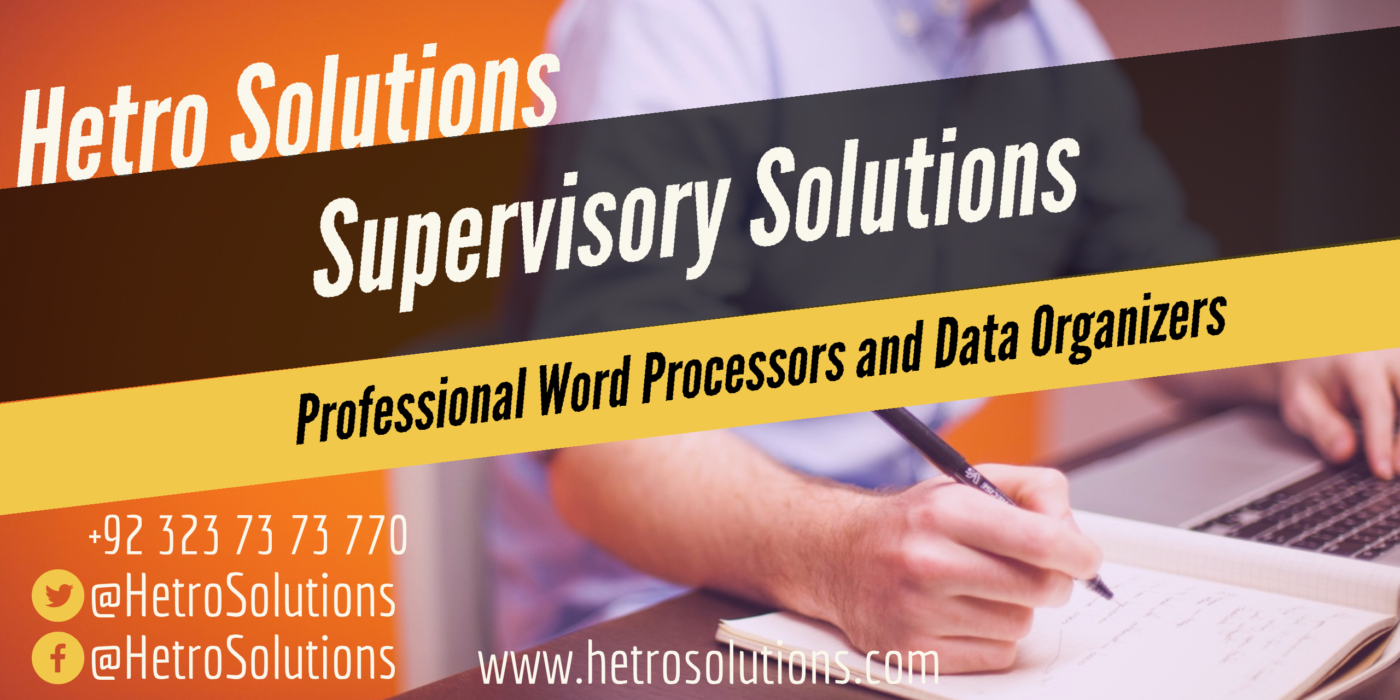 supervisor solutions data organizer supervisory solutions hetro solutions word processors n solutions hetrosolutions.com pakistan usa